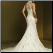 Halter Neckline Lace and Tulle Bridal Gown showing the elegant back and sweep train