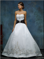 Satin Wedding Dress with Embroidery and Beading