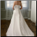 Strapless Satin A-Line Wedding Dress - back of gown showing satin-covered button-up closure