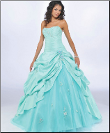 Quinceanera Gown in Satin and Organza