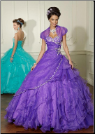 Layered Cinderella Quinceanera Gown