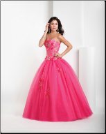 Alluring Satin and Tulle Ballgown