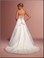 A Line Satin Strapless Wedding Dress