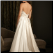 A Line Strapless Satin Dress - back of gown