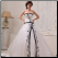 A-Line Embroidered Strapless Wedding Dress shown with crinoline