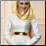 A-Line Lace Long Sleeve Muslim Wedding Dress with Gold Hijab - close-up of bodice and hijab