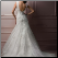 Princess Style Modest Satin Wedding Dress - view of back of gown showing train and button up back