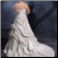 A-Line Strapless Satin Wedding Dress - back of gown showing train and lace up back