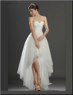 A-Line Strapless Sweetheart Neckline Bridal Gown
