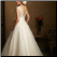 A-Line V-Neckline Satin Wedding Dress - view of the back of this elegant gown