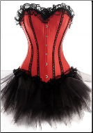 Contrasting Lines Satin Lace Corset Dress