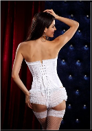 Playful Floral Embroidered Steel Boned Zipper Corset