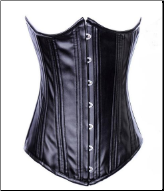 Midnight Steel Boned Underbust PVC Corset
