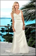 Adorable Satin Wedding Dress