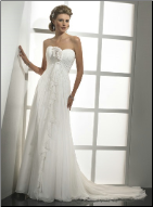 Adorable Strapless Chiffon Gown
