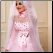 Affordable Beaded Satin Long Sleeve Muslim A-Line Wedding Dress with Hijab - close up of bodice