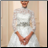 Affordable Lace over Tulle Muslim A-Line Wedding Dress, close up of bodice