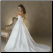 Alluring Embroidered Organza over Satin Gown with pretty back and train