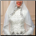 Arabic Beaded Lace High Neck Muslim Wedding Dress - close-up of bodice and hijab