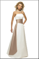 Attractive Strapless Satin Gown