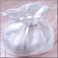 Pretty Drawstring Bridal Bag