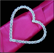 Romantic Crystal Heart Bouquet Buckle