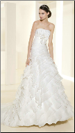 Layered Organza Wedding Gown