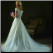 Beautiful Short Sleeved Satin and Tulle Wedding Dress - back view