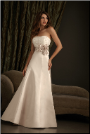 Beautiful Strapless Satin Wedding Dress