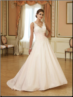 Beautiful Taffeta and Lace Bridal Gown