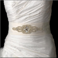 Pearl and Rhinestone Wedding Sash