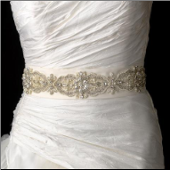 Glamorous Bridal Belt with Pearls