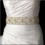 Amazing Wedding Sash Bridal Belt with Crystals
