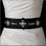 Charming Bridal Belt with Sparkling Rhinestones