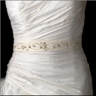 Rhinestone Accented Wedding Sash