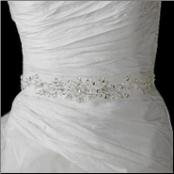 Beaded Wedding Sash Bridal Belt