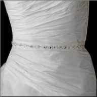 Crystal Rhinestone and Bugle Bead Wedding Sash Bridal Belt