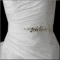Crystal and Pearl Beaded Bridal Belt