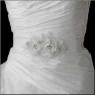 Flower Accented Bridal Belt