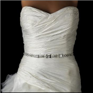 Crystal and Rhinestone Bridal Belt with Pearls