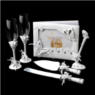 Sparkling Classic Butterfly 6 Piece Bridal Package