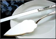 Elegant Sterling Silver Plated Cake Server Set