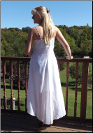 Alfred Angelo Handkerchief Hem Casual Bridal Gown for rent - size 14