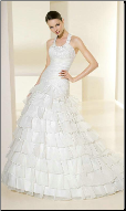 Charming Layered Organza Wedding Gown
