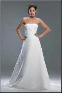 Charming Strapless Chiffon Wedding Dress