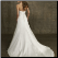 Charming Strapless Satin Wedding Gown - back of gown
