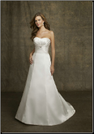 Charming Strapless Satin Wedding Gown