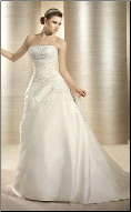 Charming Strapless Satin and Organza Wedding Gown