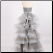 Charming Tiered Skirt Organza Strapless Gown - back of gown