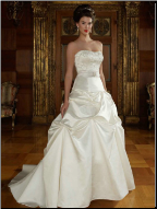 Chic Satin Strapless Ball Gown